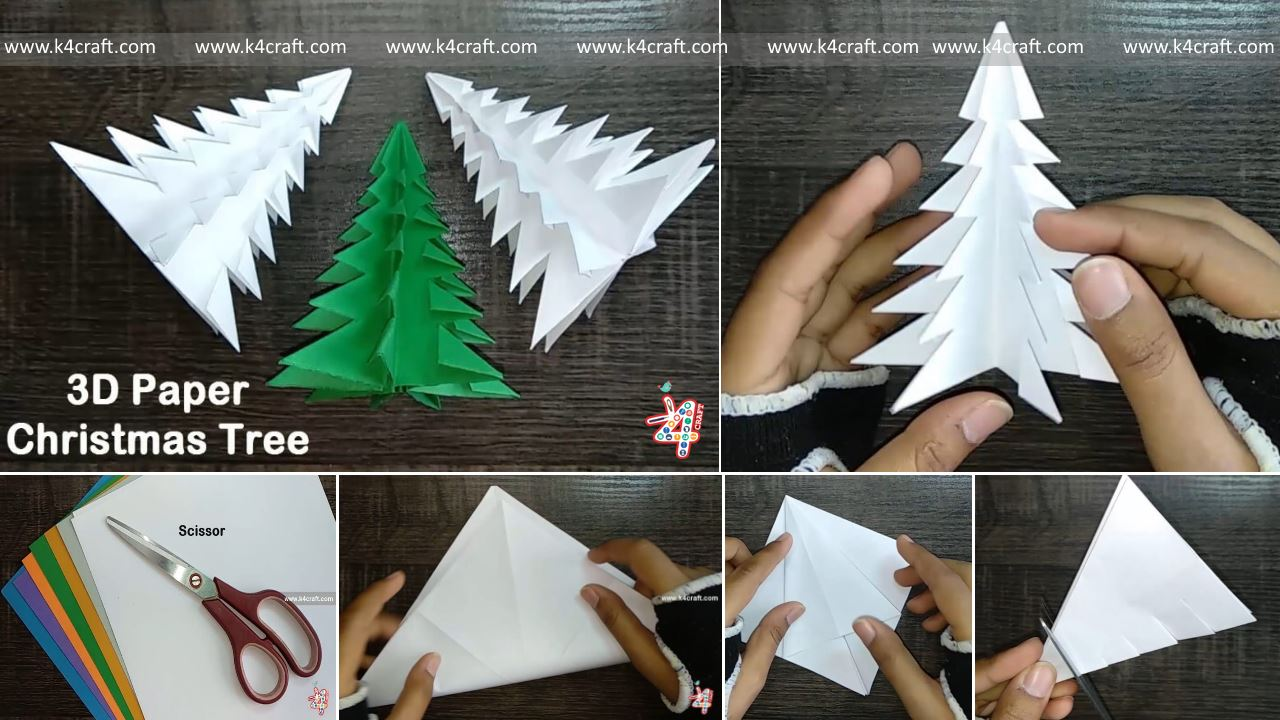 Christmas Craft DIY : How to Make 3D Paper Christmas Tree ...