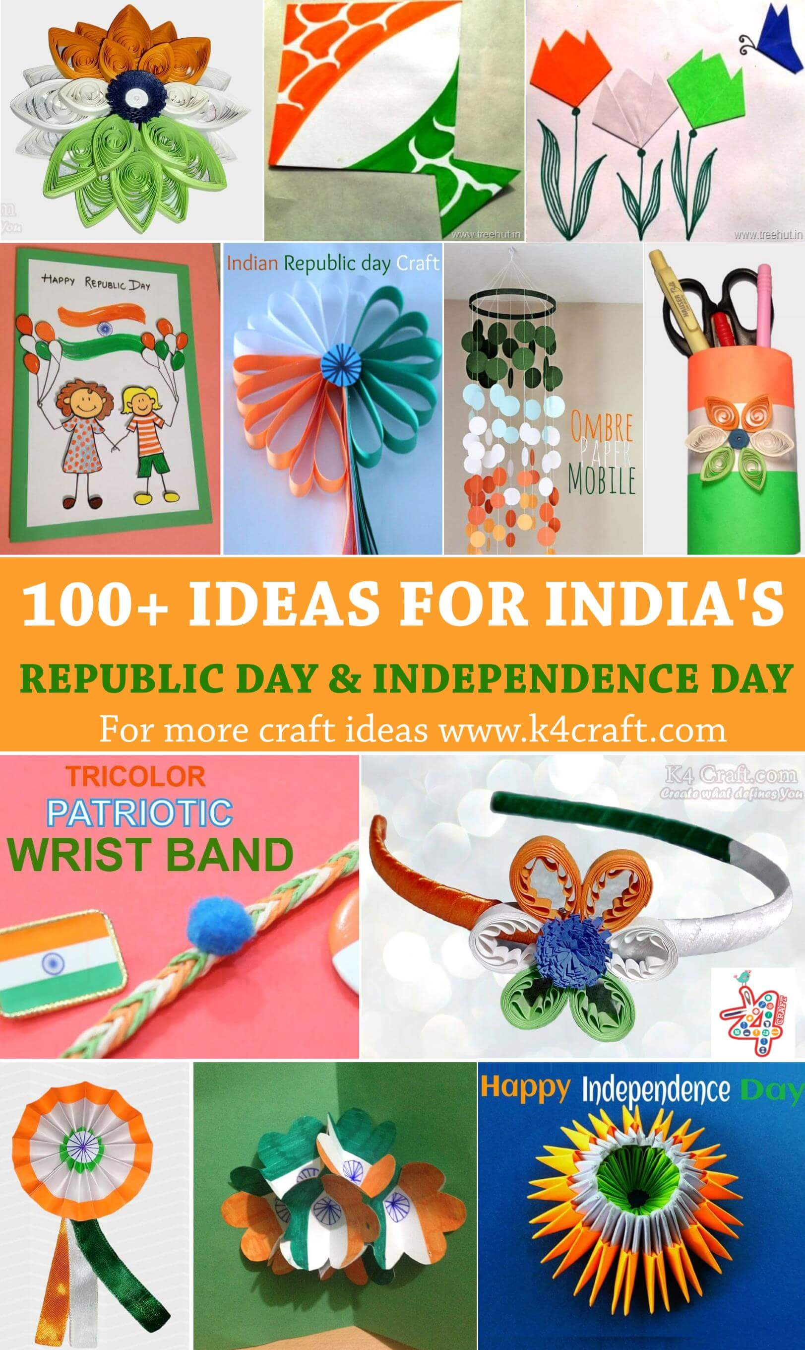 DIY Craft Ideas for India Independence Day and Republic Day