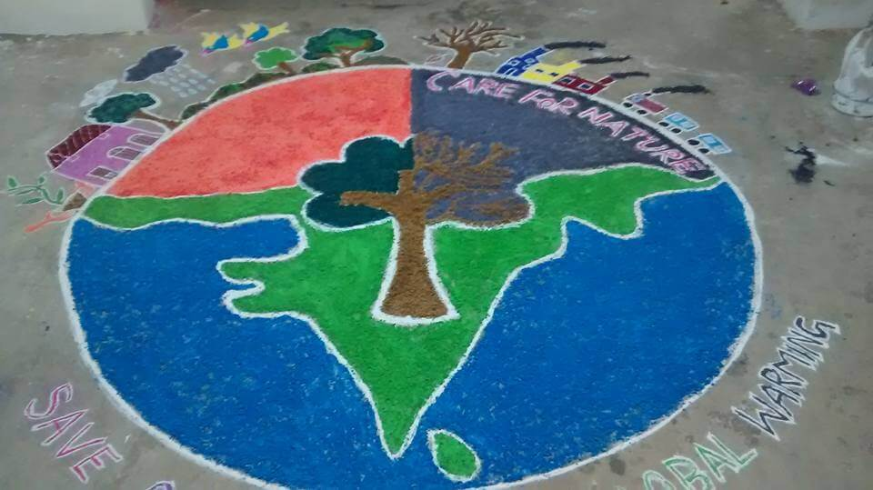 Beautiful Rangoli Design for India Independence Day and Republic Day