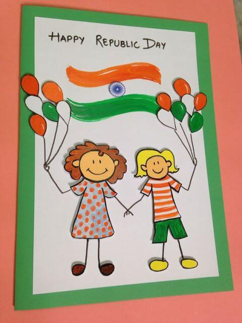 Republic Day Special Paper Cards DIY Craft Ideas for India Independence Day and Republic Day