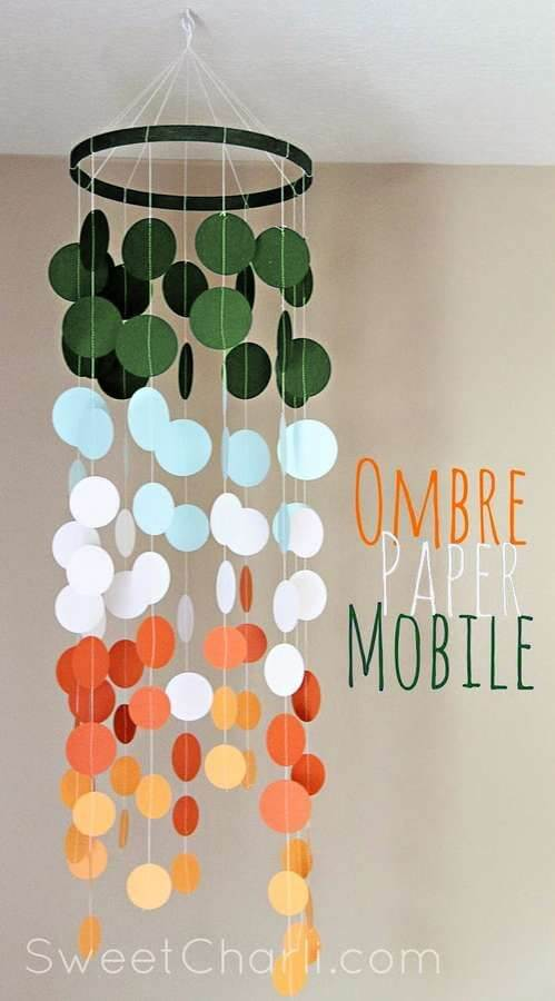Ombre paper mobile with cricut explore DIY Craft Ideas for India Independence Day and Republic Day