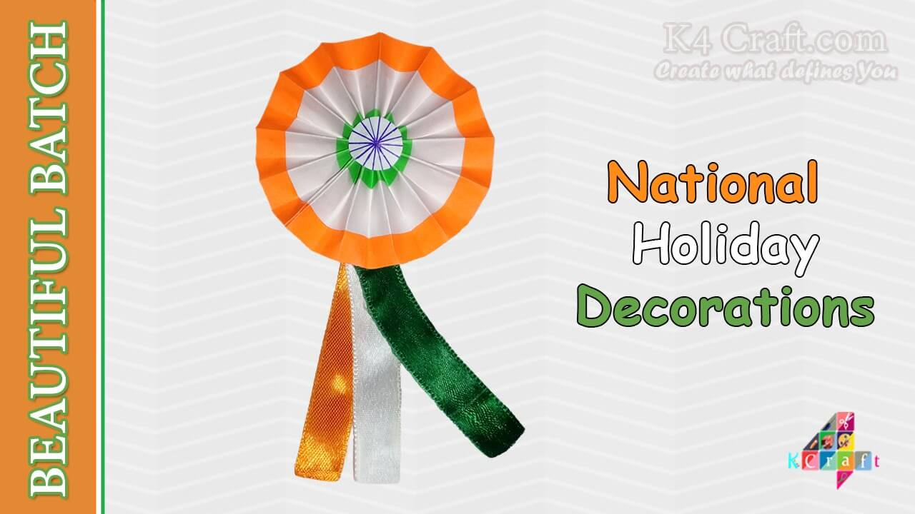 "How to make Indian Tricolour ""Badge"" for kids DIY Craft Ideas for India Independence Day and Republic Day"