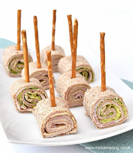 Tortilla Roll-Up Lollipops Cool & Delicious Birthday Party Food Ideas for Kids