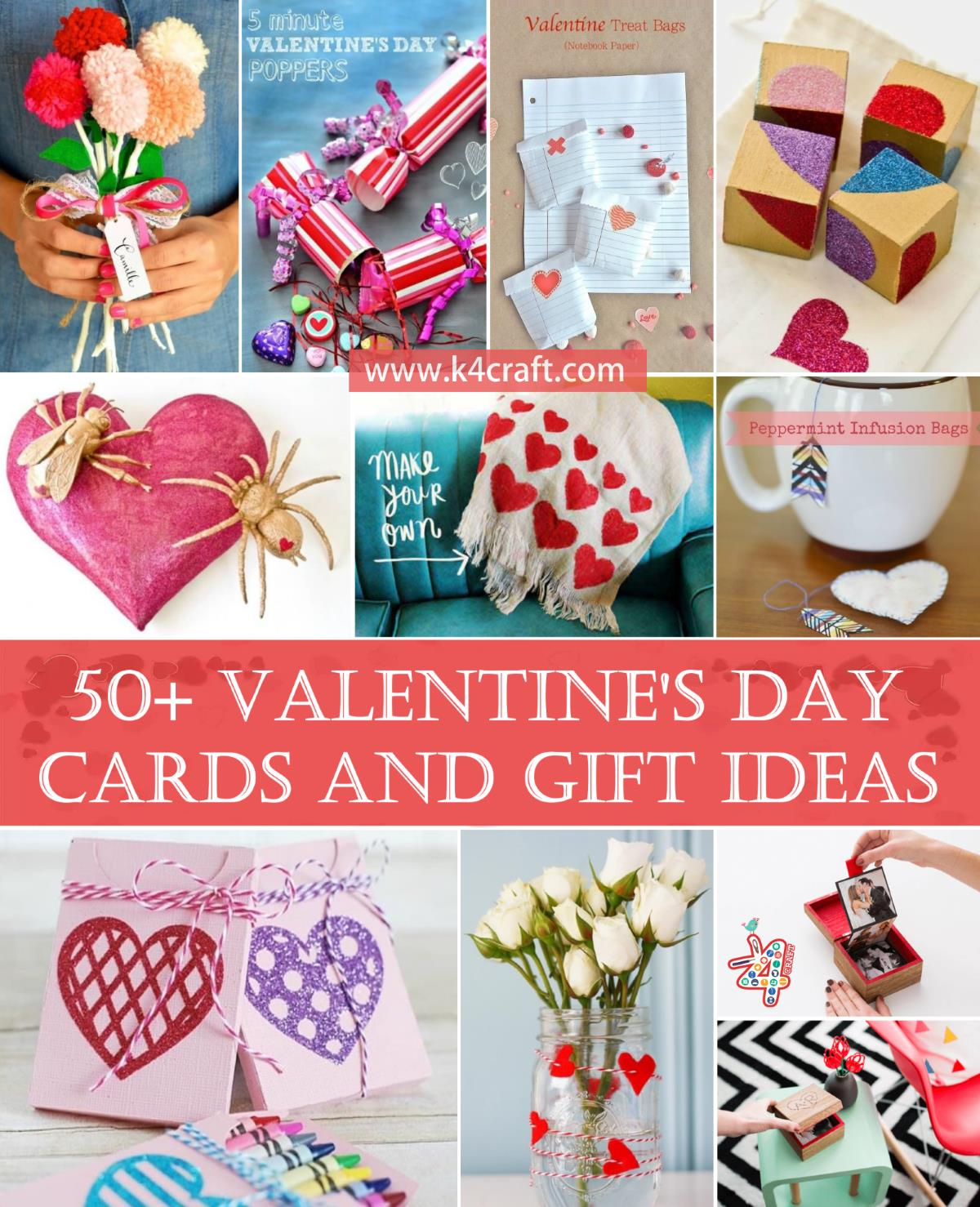 50 Valentine S Day Handmade Cards And Gift Ideas Step By Step K4 Craft