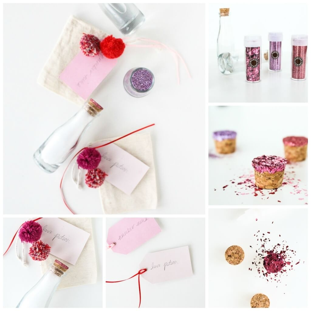 DIY Love Potion Bubble Bath Valentine's Day Handmade Cards and Gift Ideas - Step by step