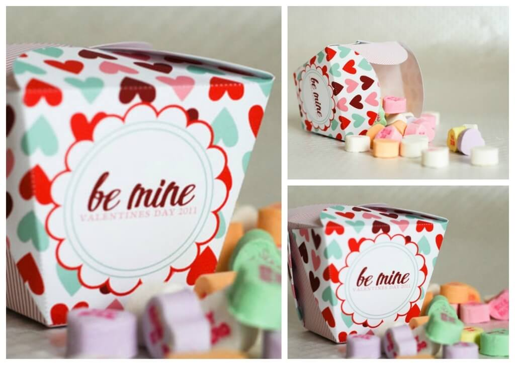 Takeout Candy Boxes Valentine's Day Handmade Cards and Gift Ideas - Step by step