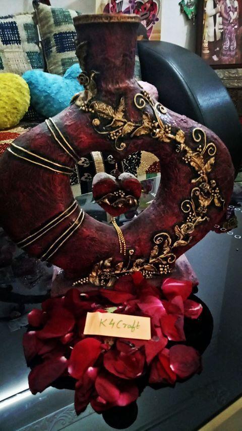 DIY Recycled Craft lovestatue Valentine's Day Handmade Craft Ideas