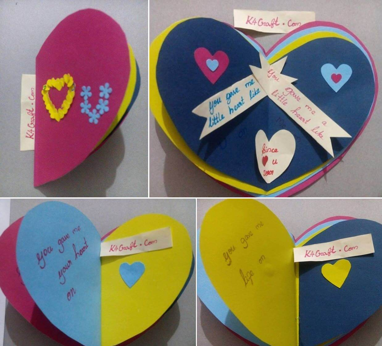 Paper Craft: Valentine's Day I love You Card Valentine's Day Handmade Craft Ideas