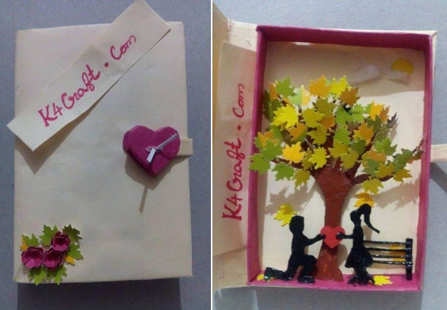 Valentine's Day Tree Gift Box Valentine's Day Handmade Craft Ideas