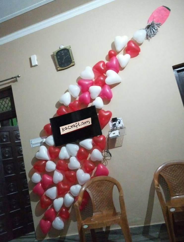 Valentine Special Balloons Decoration Valentine's Day Handmade Craft Ideas