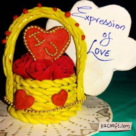 Expression of Love Basket Valentine's Day Handmade Craft Ideas
