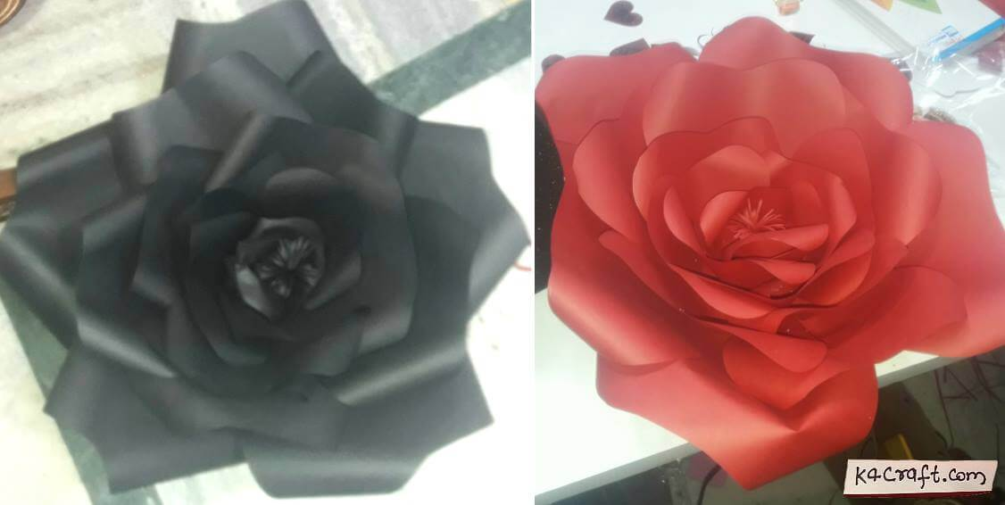Beautiful Paper Rose Flower Valentine's Day Handmade Craft Ideas