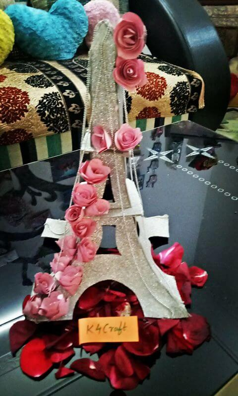 Eiffel Tower Love Girl Valentine Gift Valentine's Day Handmade Craft Ideas