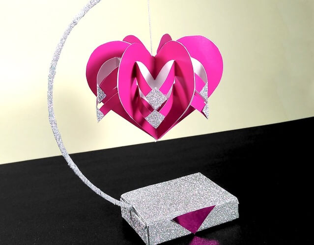 DIY Paper Heart Showpiece Valentine's Day Handmade Craft Ideas
