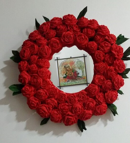 Rose Flower Wreath wall Decoration Valentine's Day Handmade Craft Ideas