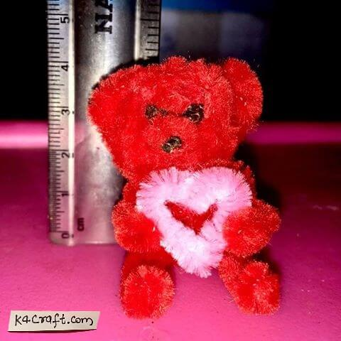 Tiny teddy bear using pipe cleaners Valentine's Day Handmade Craft Ideas