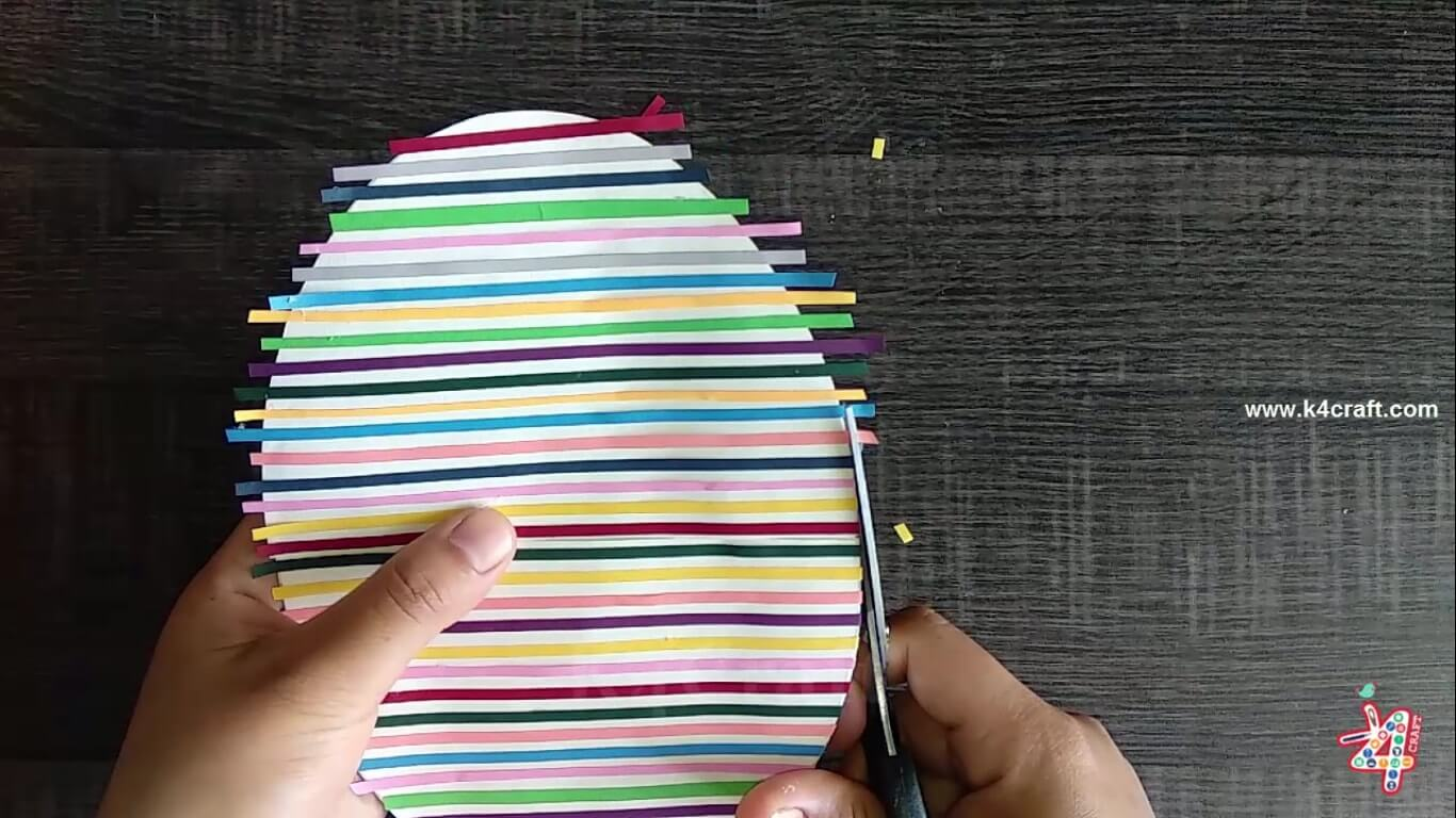 How to make Easter Egg Shaped Card - Handmade Easter Greeting Card