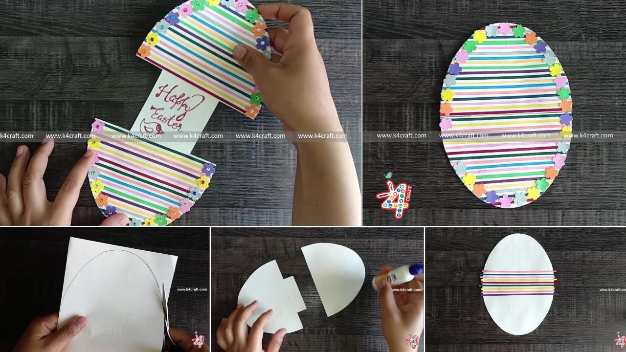 Paper Easter Card Easy Quilled Easter Egg Decoration and Card Ideas