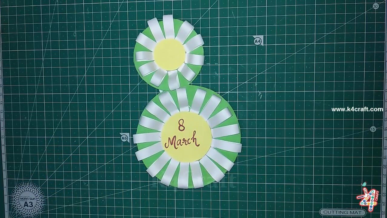 "How to Make ""8 March"" Handmade Paper Card – Step by step"