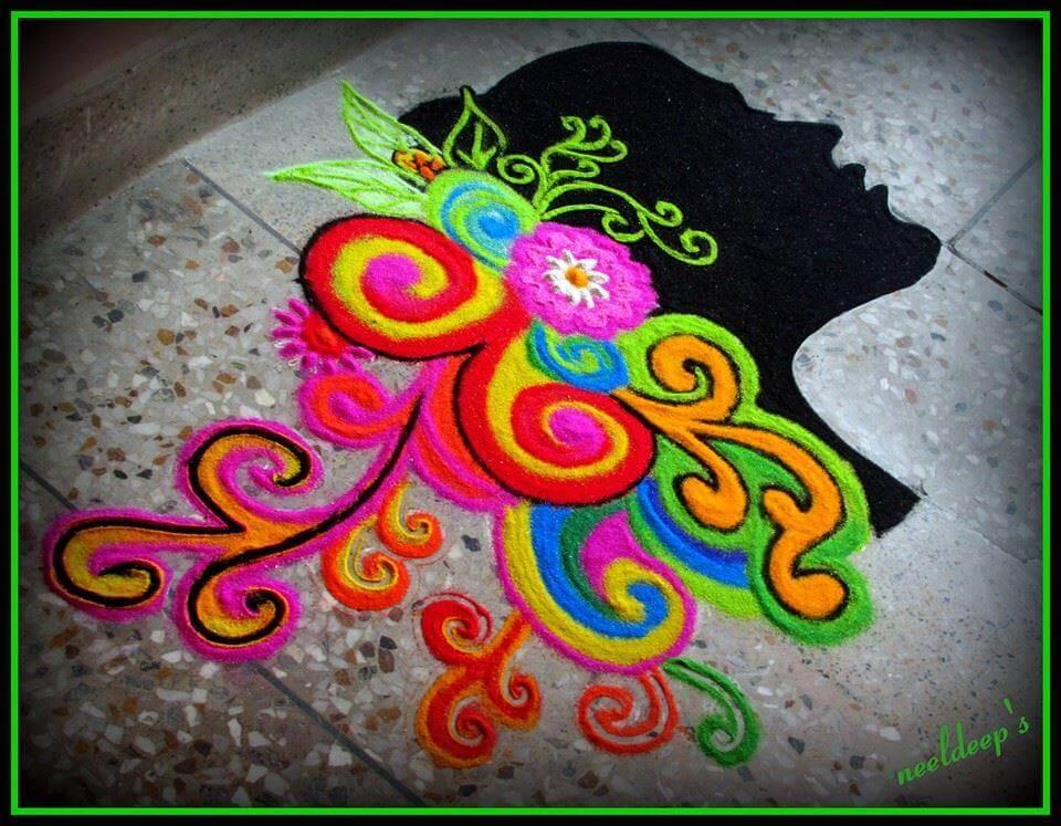 Beautiful Empowerment Rangoli Women's Day Crafts