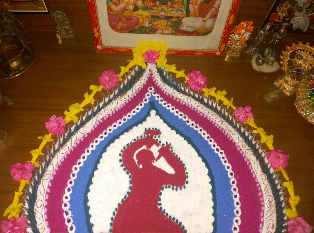 Beautiful Women's Day Crafts Rangoli