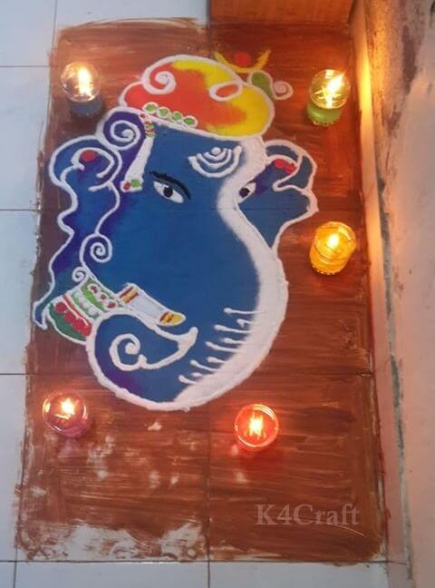 Ganesh Rangoli design