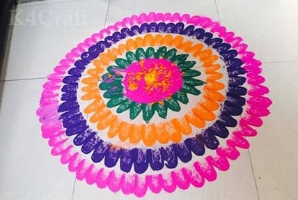 Easy to make Rangoli Design - Beautiful Rangoli Designs And Patterns For 2020