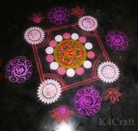 Beautiful Pastel Shades Rangoli - Beautiful Rangoli Designs And Patterns For 2020
