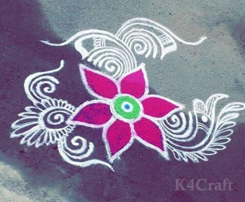 Simplistic, Traditional Rangoli design - Beautiful Rangoli Designs And Patterns For 2020