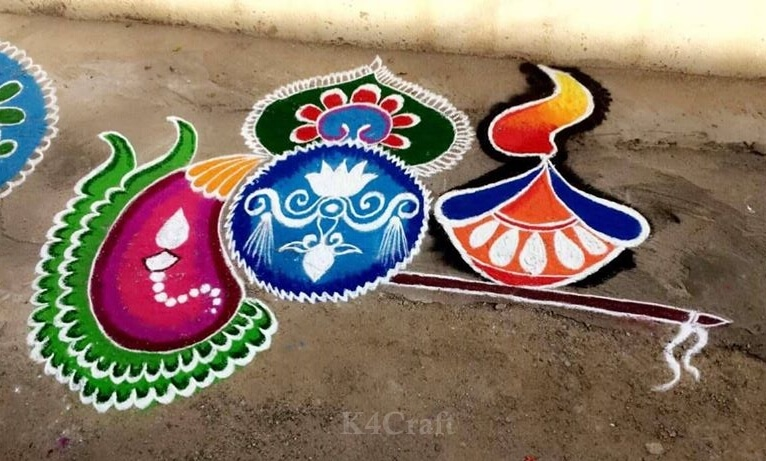 Beautifully Adorned Rangoli Design - Beautiful Rangoli Designs And Patterns For 2020