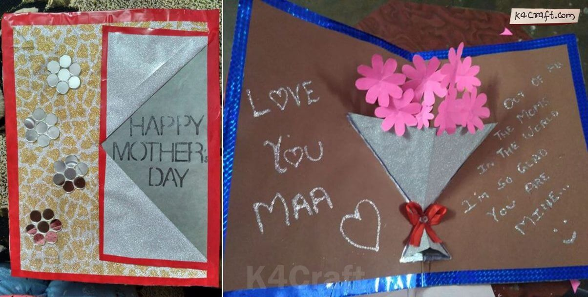 DIY Mother's Day Flower Bouquet Pop up Card | By Shruti Srivastava
