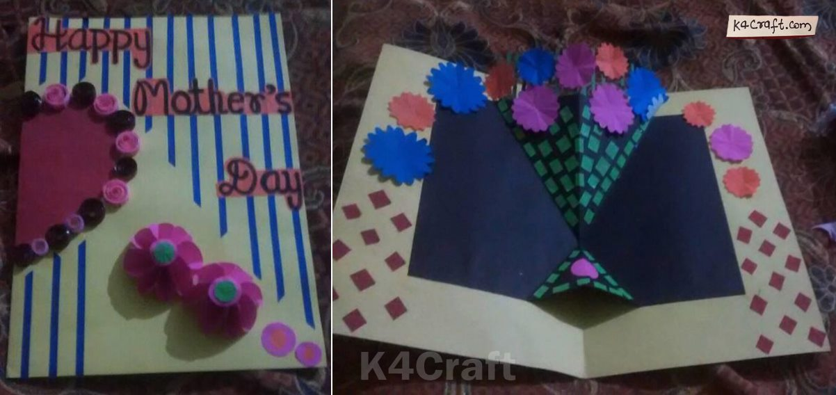 DIY Mother's Day Flower Bouquet Paper Card Mother's Day Crafts Ideas To Make At Home