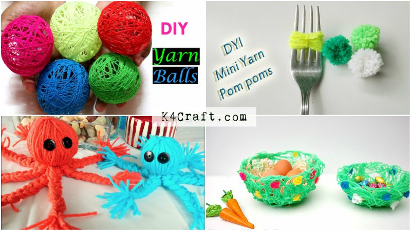 easy-yarn-craft-ideas-for-kids How to Make Fake Snow for Crafts at home