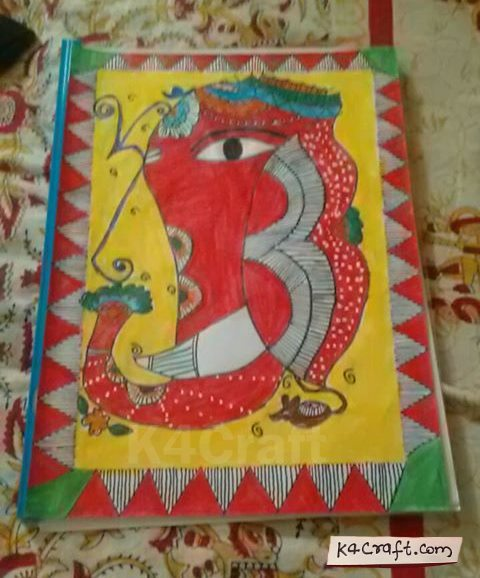 Madhubani/Mithila Painting | By Vinita Rustagi Mother's Day Crafts Ideas To Make At Home