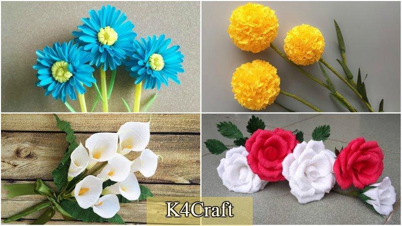Flower Making Tutorials:Spring craft ideas for kids