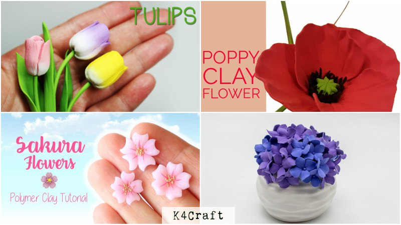 Clay Flowers Craft Tutorials: Spring craft ideas for kids
