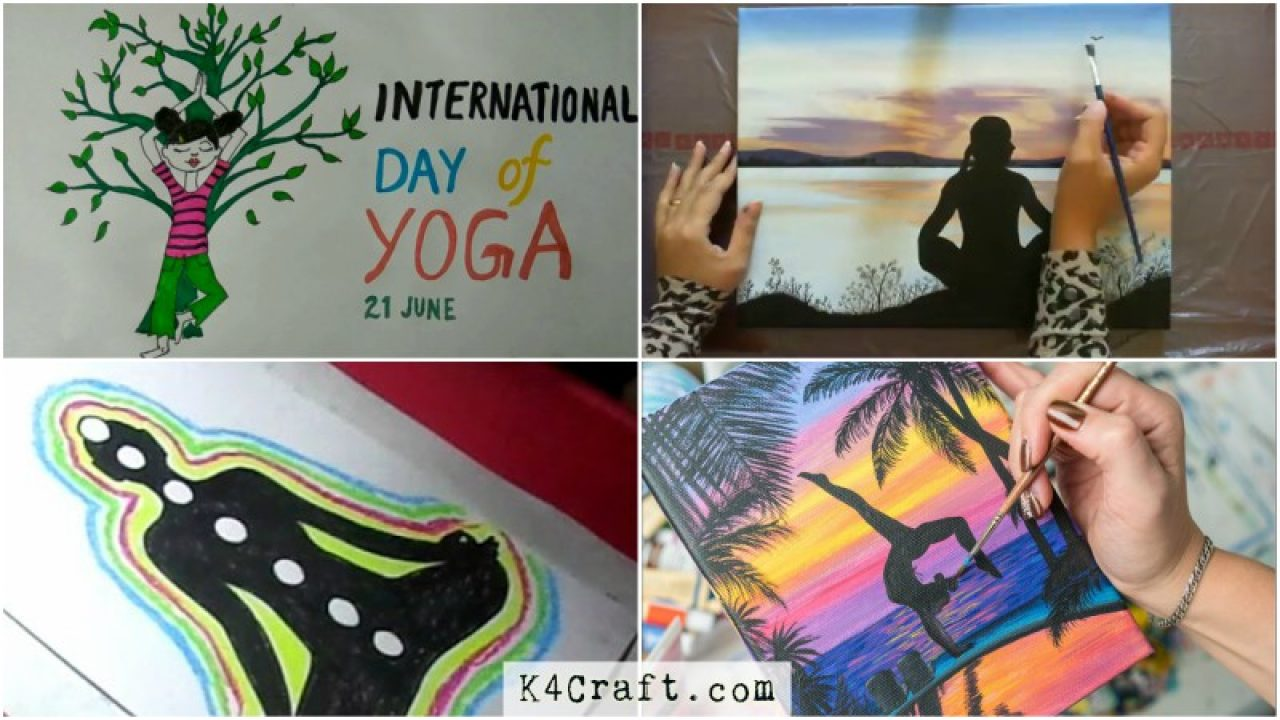 International Yoga Day Special Artwork K4 Craft