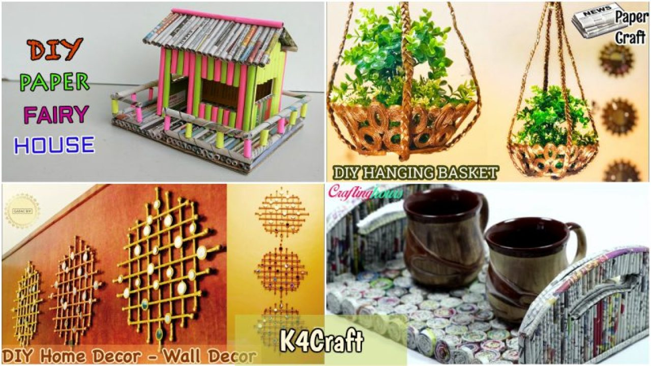 Newspaper Craft Ideas For Home Decoration K4 Craft
