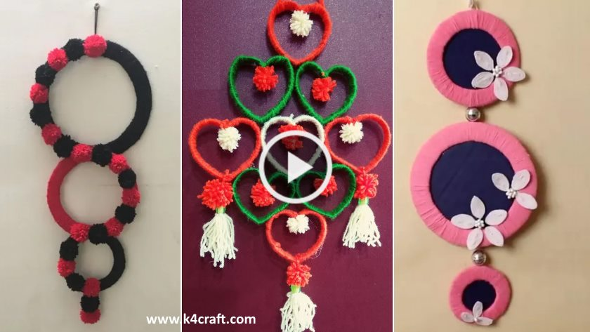 Wall Hanging Craft Ideas using Woolen