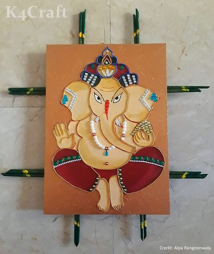 DIY Lord Ganesha Wall Decor Craft Ideas Easy Craft Ideas To Celebrate Ganesh Chaturthi with Kids