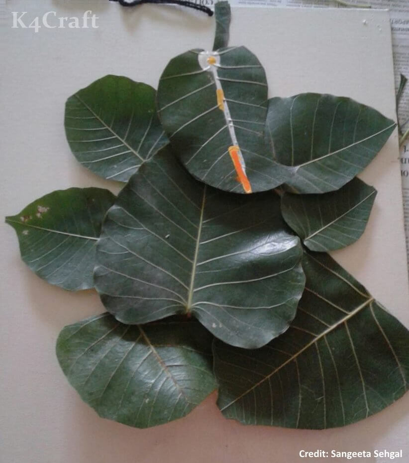 Ganesh made of Leaves Easy Craft Ideas To Celebrate Ganesh Chaturthi with Kids