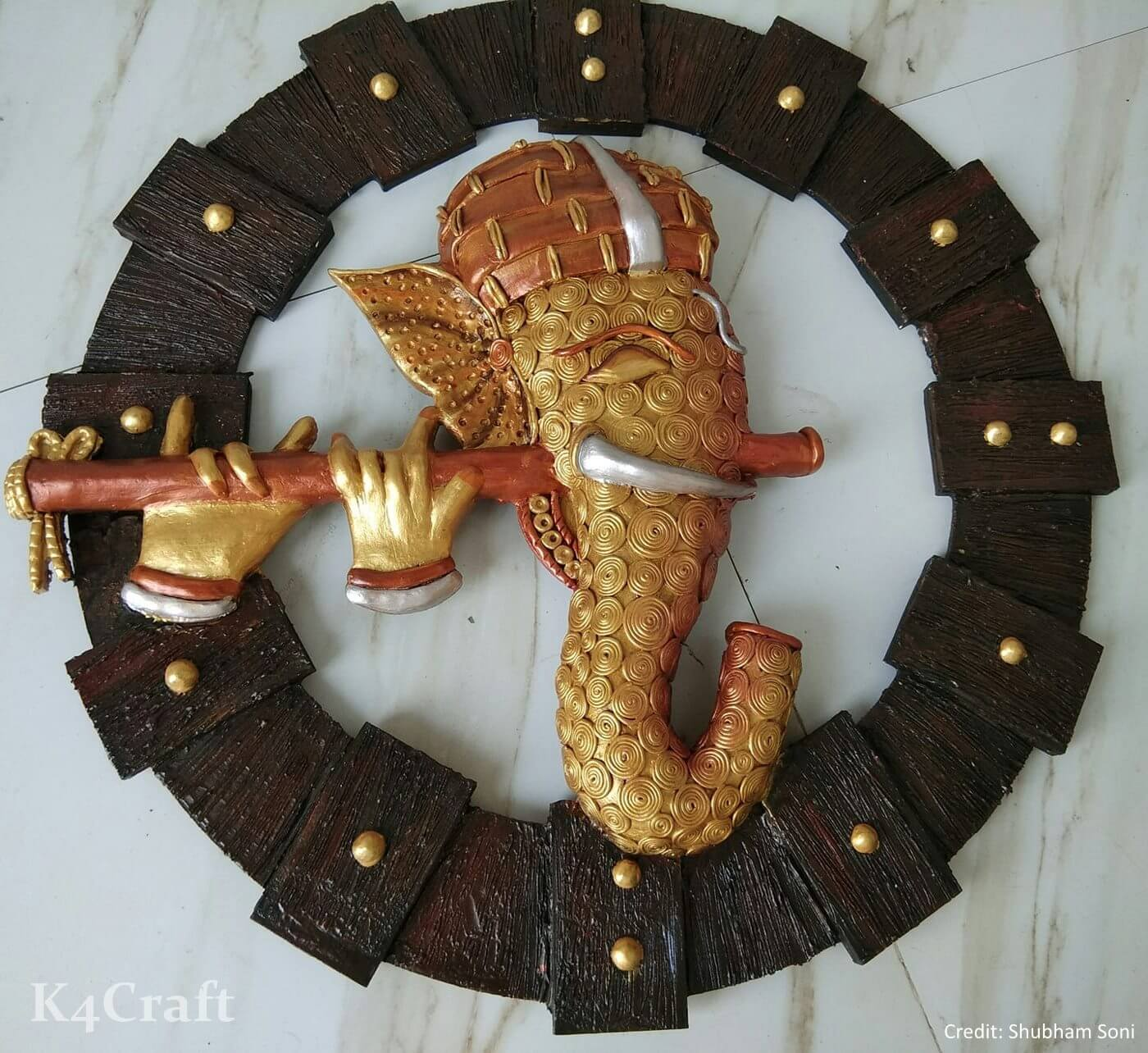Lord Ganesh sculpture for Home Decor Easy Craft Ideas To Celebrate Ganesh Chaturthi with Kids