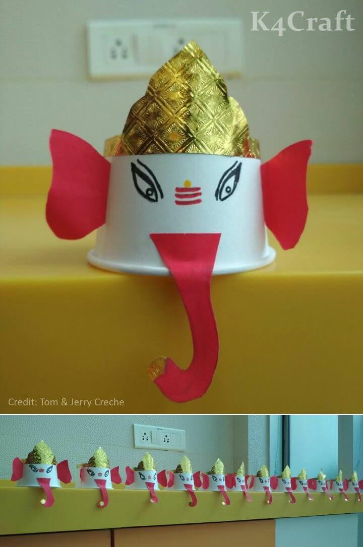 Ganesha crafts made as kids celebrated the festival Easy Craft Ideas To Celebrate Ganesh Chaturthi with Kids
