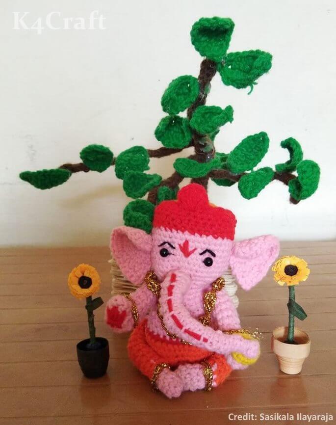 Handmade Crochet Ganesha Easy Craft Ideas To Celebrate Ganesh Chaturthi with Kids