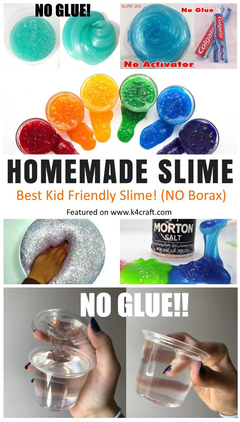 Easy Homemade Slime Recipes Homemade Slime in Easy Steps