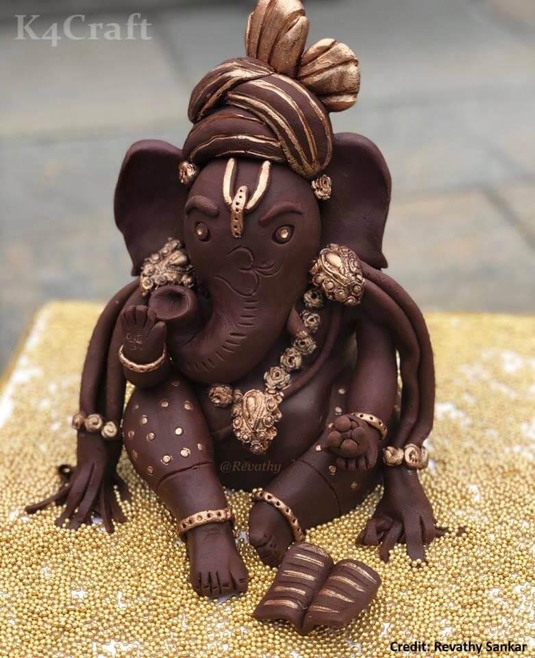 DIY Chocolate Ganesha (7'' Inch tall) Easy Craft Ideas To Celebrate Ganesh Chaturthi with Kids