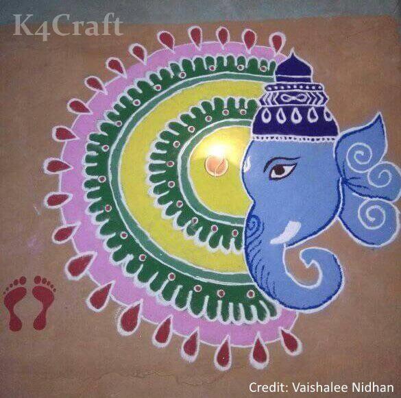 Latest Ganesh Chaturthi Rangoli designs