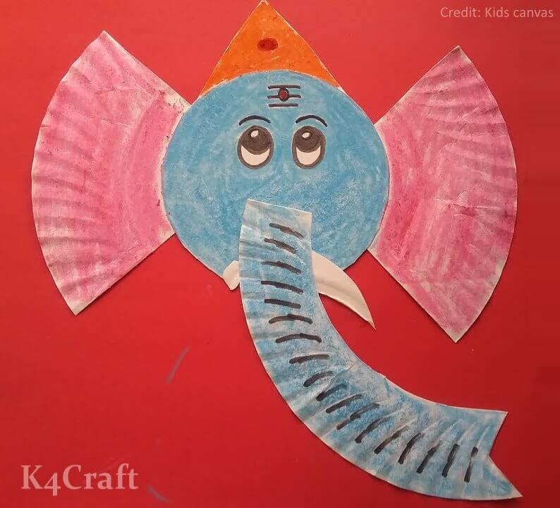 DIY Paper Plate Ganesha Activity for kids Easy Craft Ideas To Celebrate Ganesh Chaturthi with Kids