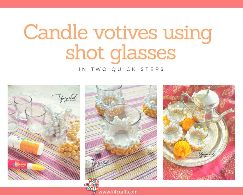 Candle Votives using Shot glasses Beautiful Ways to Decorate Your Home This Diwali