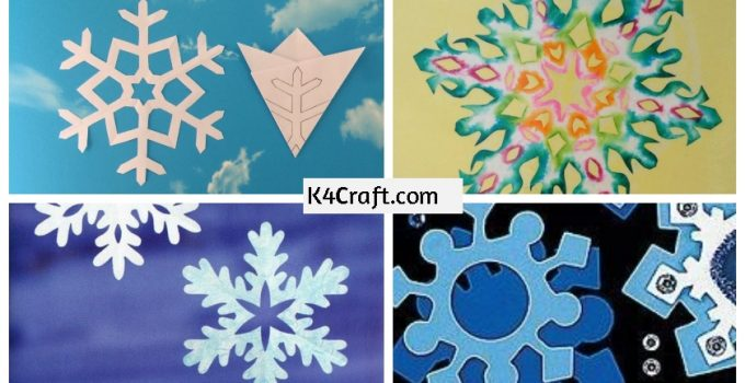 Paper Snowflake | Kids' Crafts | Fun Craft Ideas | FirstPalette.com | 350x680